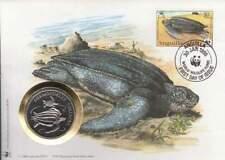 Numisbrief WWF 1995 Anguilla - Dermochelys Cortacea / Schildpad (073)