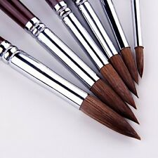 Kolinsky Watercolor Art Painting Brush Round Red Sable 6 Brushes Professional