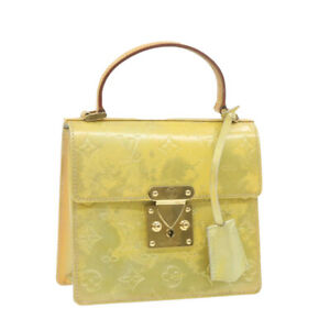 LOUIS VUITTON Vernis Spring Street Hand Bag Gris M91029 LV Auth sy025