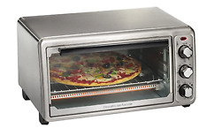 Hamilton Beach 6-Slice Countertop Toaster Oven with Bake Pan, Stainless Steel