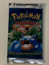 1999 Pokemon Venasaur Base Set Booster Pack Factory Sealed Spanish