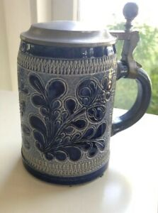 Vintage Marzi Remy Cobalt Lidded Stein