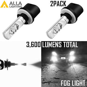 Alla Lighting LED 880 Driving Fog Light Super Bright White Direct Fit Upgrade 2x