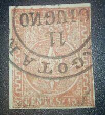 Antichi Stati Parma 15 cent 1853-55 Borgotaro 6 pt cat. 680 euro