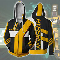 Hyperion 3D Zip Hoodie Sweatshirt Jacket Coat Cosplay Costume Sweater Tops