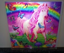 3D Lenticular Greeting Card Pink Pony Dazzle Michael Searle Size 16x16 cm aprox