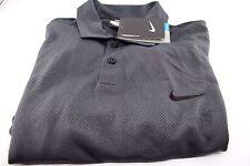 Mens Nike Golf Short Sleeve Polo Shirt Gray Black Dri Fit Small 402309 Color 010