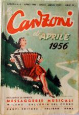 Le CANZONI di Aprile 1956/4 Messaggerie Musicali-design Roveroni-Testi e foto