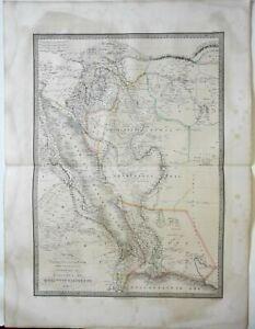 Egypt Nubia Sudan Abyssinia Arabian Peninsula 1842 Lapie large folio map
