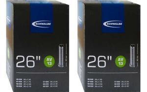 """2 x Schwalbe Schlauch Nr. 13 AV 26"""" Zoll Schrader-/Autoventil Fahrradschlauch"""