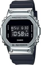New Casio G-Shock GM5600-1 Stainless Steel Bezel Black Resin Band Digital Watch