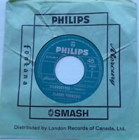 CLAUDE FRANCOIS Silhouettes / Sois fier NM- CANADA ORIG 1965 FRENCH POP 45