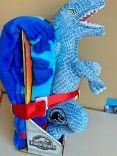Jurassic World Dinosaur Blanket Pillow Set