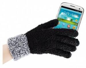 Kuschel Handschuhe Supersoft zur Bedienung Touchscreens Smartphone geeignet