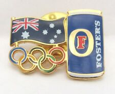 FOSTERS BEER CAN RINGS GOLD SYDNEY OLYMPIC GAMES 2000 PIN BADGE COLLECT #199