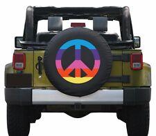 "29"" Peace Sign Tire Cover - Rainbow - Jeep Wrangler TJ - USA"