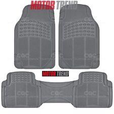 Car Rubber Mats - Gray 3 Piece Set Floor Mat Odorless Toxic Free Heavy Duty
