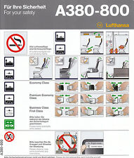 Safety Card LH A380-800 Airbus A 380! Printed: 07/2015 in Germany TN413-0390