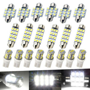 20PCS Auto Car Interior LED Lights Dome License Plate Mixed Lamp Kit Accessories