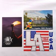 3 x Los Angeles Olympic Games Postcards 1984 Vintage Collectible Souvenir Usa