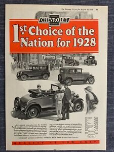 E Chevrolet 1928 Ad  12 x 8 1/2