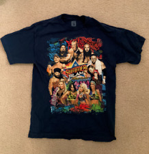 WWE 2017 SUMMERSLAM I WAS THERE T-SHIRT BROOKLYN NEW YORK SZ MEDIUM BLUE 8/20/17