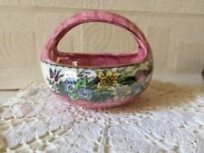Maling Pottery Basket Bowl Art Deco Lustre Ware Newcastle England