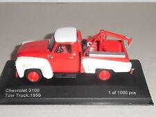 WHITEBOX.WHI 233 CHEVROLET 3100 TOW TRUCK 1956 RED & WHITE  1000 PCS.
