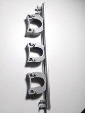 Broom & Mop Kitchen Garage Closet Wall Tool Holder gray Aluminum 3 Rubber Grip