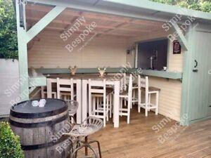 OUTDOOR HOME PUB / SUMMER PARTY / MAN CAVE / HOT TUB SHELTER / GARDEN BAR
