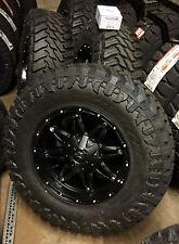 """(5) 18"""" Fuel Hostage Black Wheels 35"""" Atturo MT Tire Package Jeep Wrangler JK"""