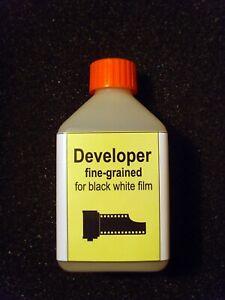 Developer fine-grained for black white film for 12.5 liters