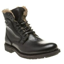 New Mens SOLE Black Battle Leather Boots Lace Up