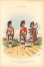 More details for 1894 richard simkin military print, 78 black watch,royal highlanders, 42nd & 73r