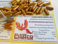 TURMERIC CAPSULES WITH BLACK PEPPER + CLOVE ULTRA BIO-AVAILABLE CURCUMIN COMPLEX