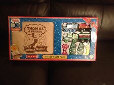 THOMAS THE TANK WOODEN HOLIDAY GIFT PACK WITH WOODEN BOX. VERY RARE LC09803