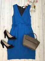Whistles Size 10 blue crepe dress vgc work office career business summer wedding