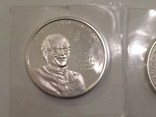 1998 Reverend Tutu Nobel Peace 1 oz .925 Sterling Silver Coin Round Norway Mint