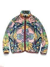 KAPITAL fleece zip up blouson Guttman Psychadelic Flower Pattern Navy NEW Size 4