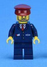 LEGO Train Minifigure Driver Conductor Railway Worker Ticket Guard Station Staff
