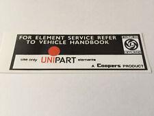 UNIPART Air Filter Box Sticker LMG1015 Mini Allegro Ital Princess Maxi Metro etc
