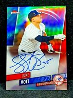LUKE VOIT 2019 Topps Finest Chrome Refractor Autograph RC FA-LV ROOKIE Gem Mint