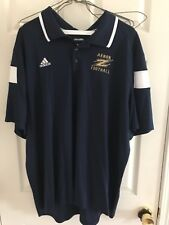 Adidas Akron football Team Polo shirt - short sleeve - Navy -2Xl - zips - new