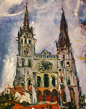 Soutine Chaim Chartres Cathedral Print 11 x 14 #4686