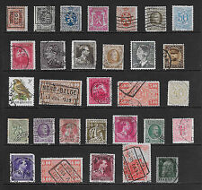 Belgium Stamps Mixed Lot of 30 Different Older Used Stamps