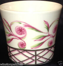 RAYNAUD LIMOGES COVENT GARDEN CUP 10 OZ WHITE WITH PINK & GREEN PATTERN