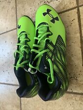 Under Armour Mens Nitro Clutchfit Low Football Cleats Green/Blue Size 14 Nwot