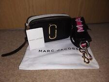 Marc Jacobs Logo Strap Snapshot Small Camera Black And Grey Cross Body Bag