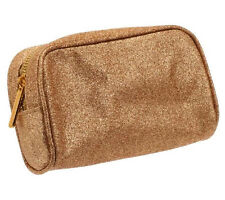 Bare Escentuals glittery gold Make up / Cosmetics Bag - Brand New! Very Pretty!!