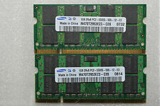2 GB 2X1GB PC2-5300S SAMSUNG DDR2-667 MHZ CL5 MEMORY SODIMM LAPTOP RAM  200 PIN